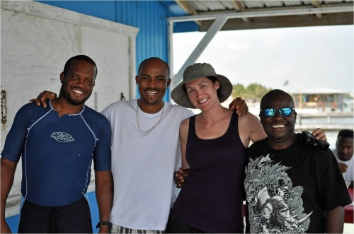 The great guys from Island Divers in Belize