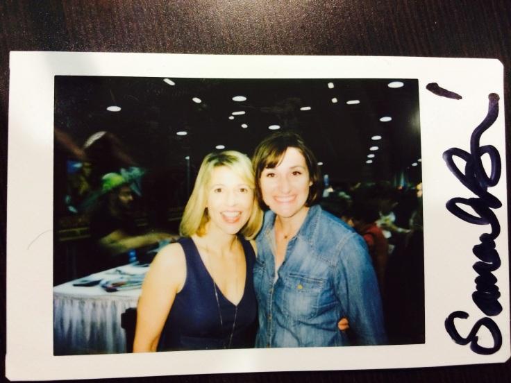 Sam signed a Polaroid for me!!!