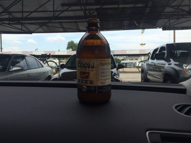 When in Texas you have a beer with your drive-in